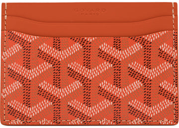 Authetic Goyard Saint Sulpice Card Holder Monogram Chevron Multicolor Orange 1