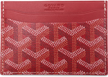 Authentic Goyard Saint Sulpice Card Holder Monogram Chevron Multicolor Red 1