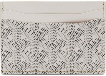 Authentic Goyard Saint Sulpice Card Holder Monogram Chevron Multicolor White 1