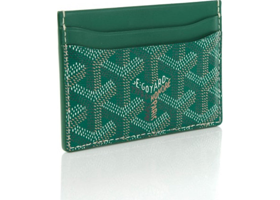 Authetic Goyard Saint Sulpice Card Case Chevron Green 1