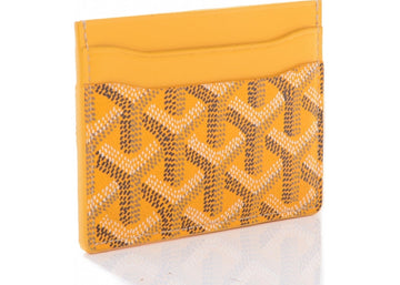 Authentic Goyard Saint Sulpice Card Holder Chevron Yellow 1