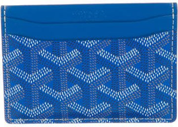 Authentic Goyard Saint Sulpice Card Holder Chevron Royal Blue 1