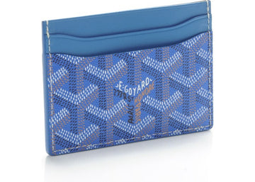 Authentic Goyard Saint Sulpice Card Holder Monogram Chevron Sky Blue 1