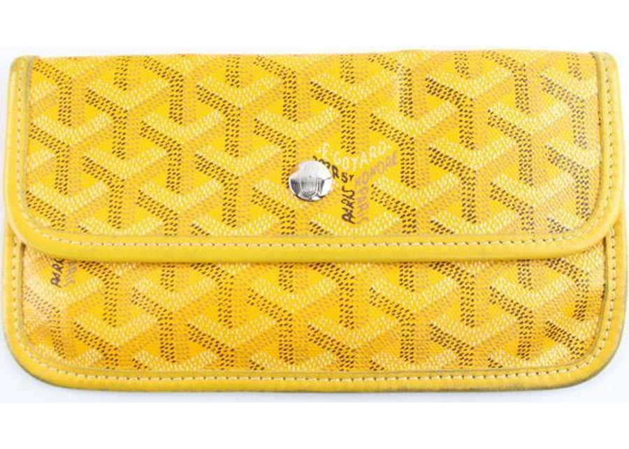 Authentic Goyard St Louis Pouch Monogram Chevron Yellow