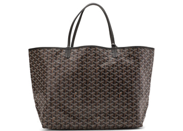 Authentic Goyard St. Louis Tote Monogram Chevron GM Black (With Pouch) 1