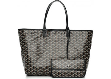 Authentic Goyard St. Louis Tote Monogram Chevron PM Black 1
