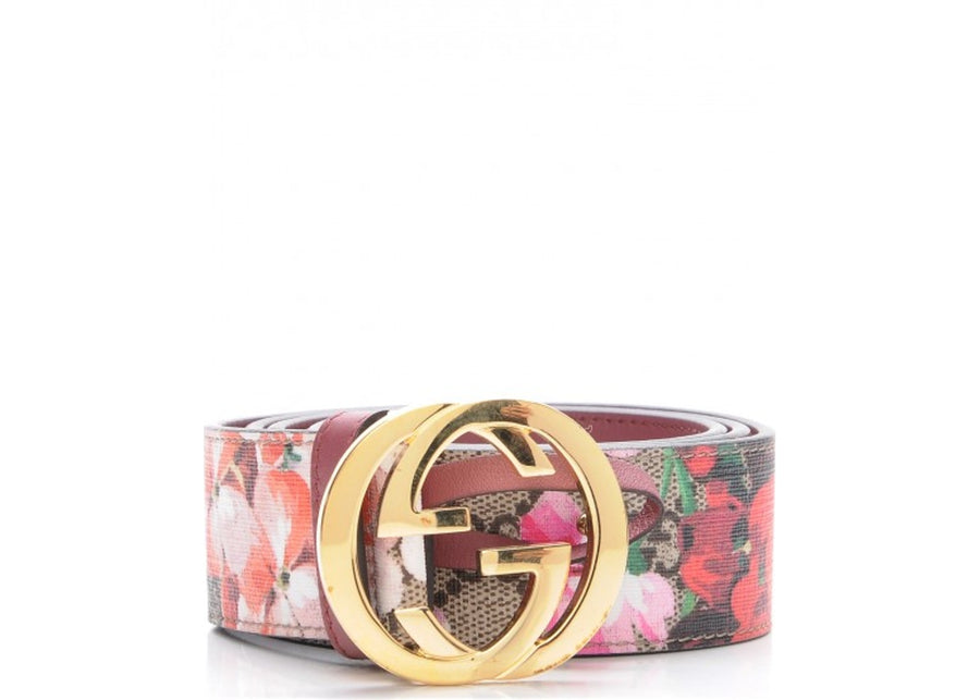 Authentic Gucci Blooms Belt Supreme Pink/Brown/Beige/Green