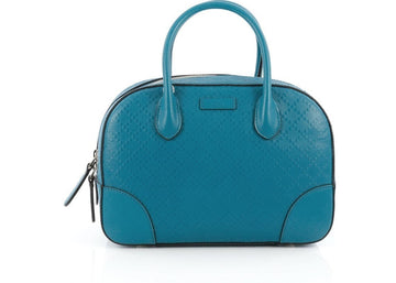 Gucci Bright Satchel Diamante Top Handle Small Blue