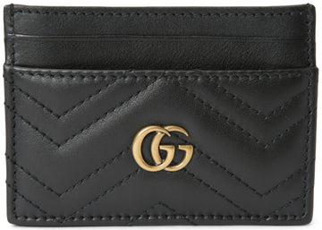 Authentic Gucci Marmont Card Case Matelasse Black