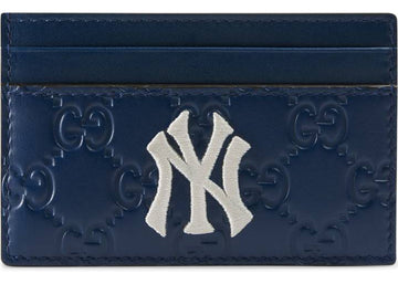 Gucci Card Case NY Yankees Patch Royal Blue