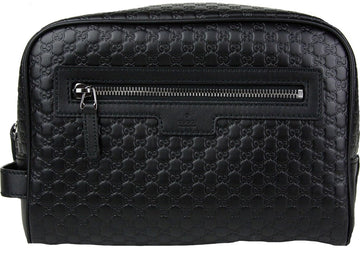 Gucci Cosmetic Case Clutch Monogram Guccissima Zip Top
