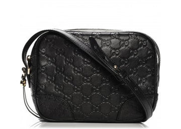 Gucci Mini Bree Crossbody Guccissima Micro Monogram Mini Black
