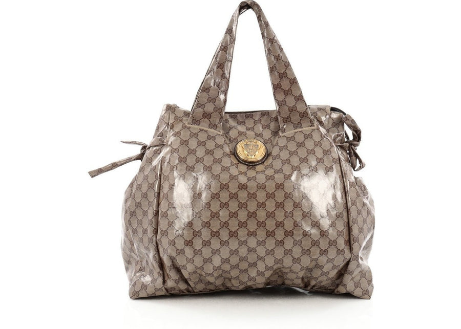Gucci Hysteria Tote GG Large Brown