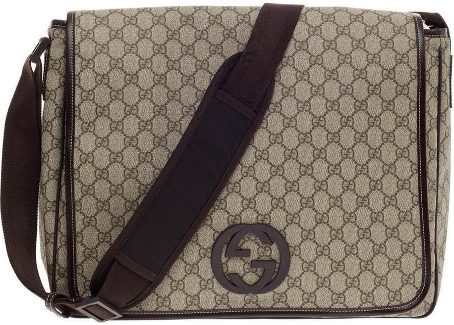 Gucci Interlocking G Messenger GG Large Brown