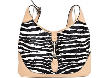 Gucci Jackie Hobo Zebra Medium Black/White/Beige