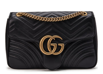 Gucci Marmont Shoulder Matelasse Medium Black