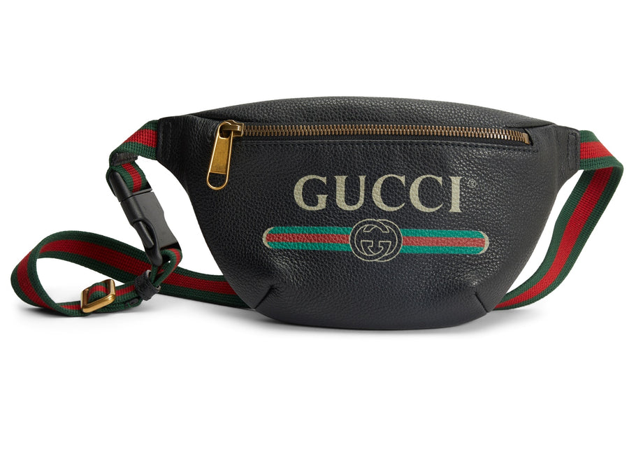 Gucci Print Belt Bag Vintage Logo Small (29.5 - 41 in.) Black