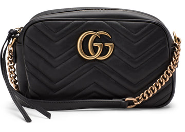 Authentic Gucci GG Marmont Camera Bag Matelasse Small Black
