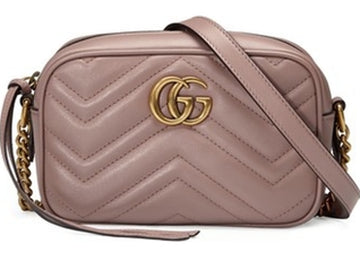Gucci GG Marmont Shoulder Matelasse Small Dusty Pink