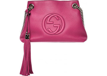 Gucci Soho Chain Shoulder Bag Small Fuchsia Pink