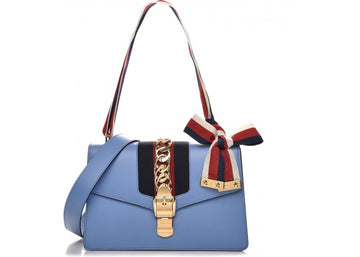 Gucci Sylvie Shoulder Small Light Blue