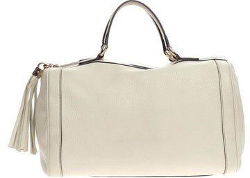 Gucci Soho Boston Bag Satchel Cream