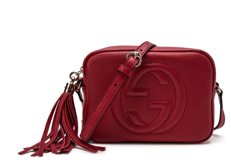 Authentic Gucci Soho Disco Crossbody Small Red
