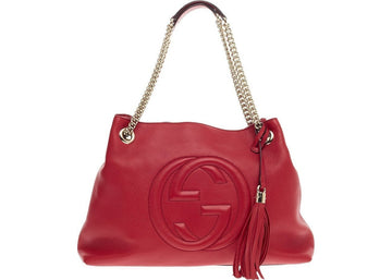 Gucci Soho Shoulder Chain Strap Medium Red