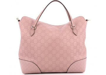 Gucci Bree Top Handle Monogram Guccissima Embossed Mauve