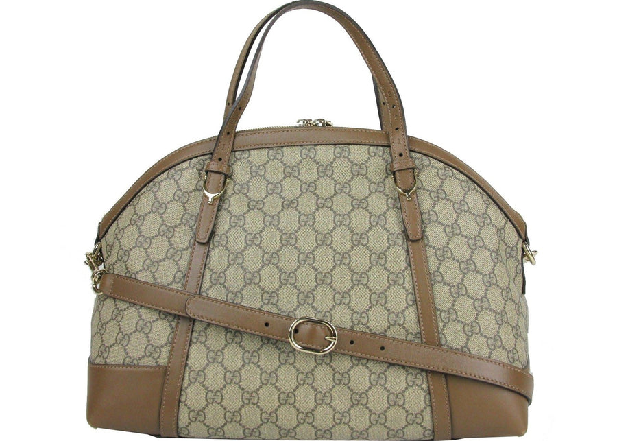 Gucci Nice Top Handle Monogram GG supreme Small Beige/Brown