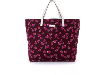 Gucci Tote Continental heart Burgundy