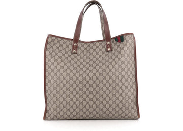Gucci Web Loop Tote Monogram GG Large Taupe/Brown/Green/Red