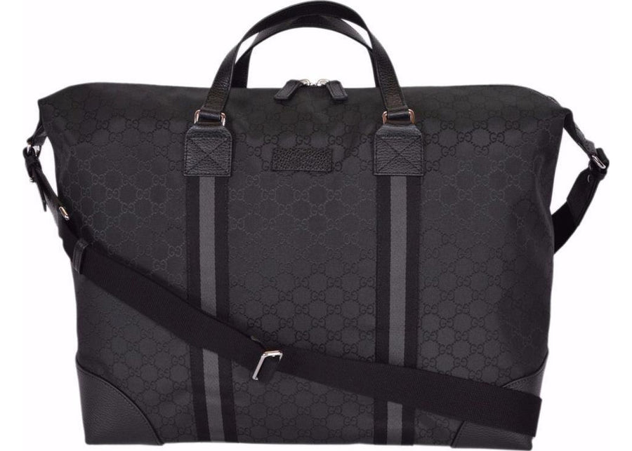 Authentic Gucci Travel Duffle Monogram GG Black