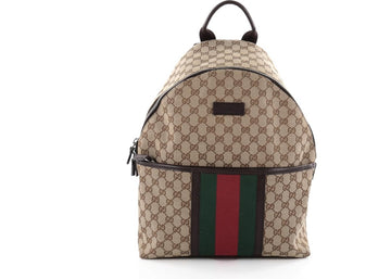 Gucci Web Backpack GG Web Stripes Medium Brown/Green/Red