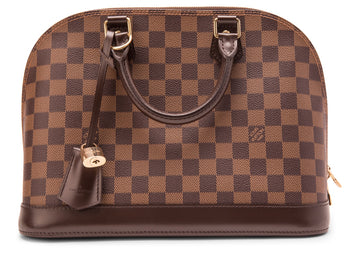 Louis Vuitton Alma Damier Ebene PM Brown