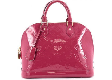 Louis Vuitton Handbag Alma Monogram Vernis PM Fuchsia