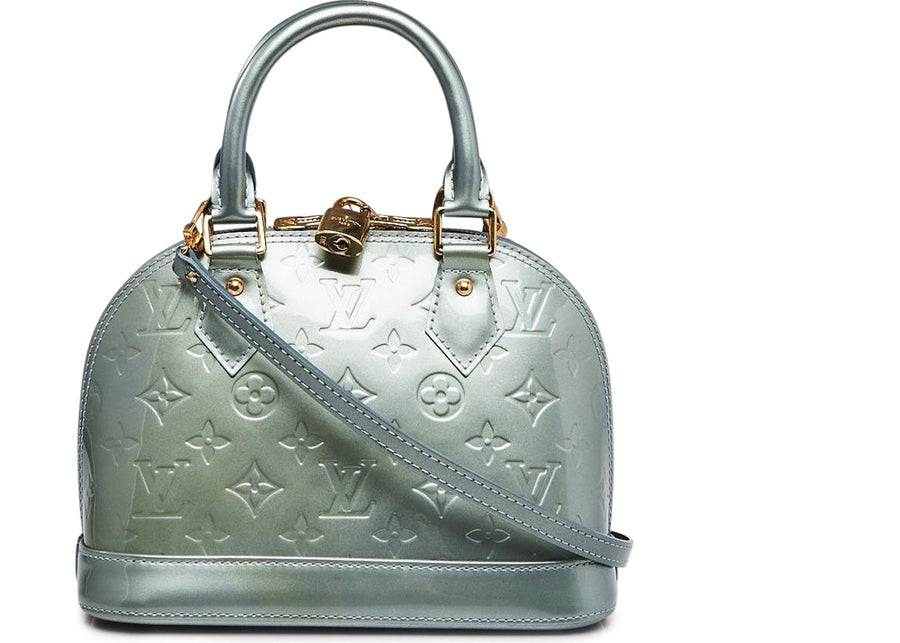 Louis Vuitton Alma Monogram Vernis With Accessories BB Givre