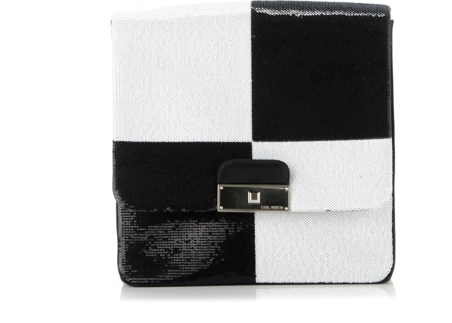 Louis Vuitton Clutch Envelope Damier Optic Sequins Black/White