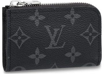 Louis Vuitton Coin Purse Monogram Eclipse Black Gray