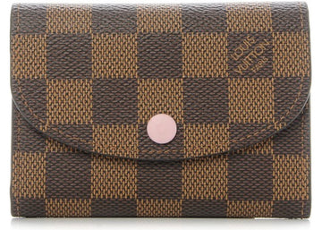 Louis Vuitton Coin Purse Rosalie Damier Ebene Rose Ballerine