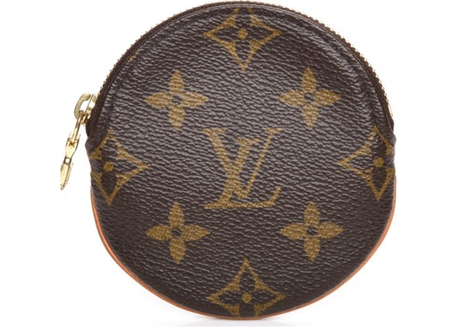 Louis Vuitton Coin Purse Round Monogram Brown