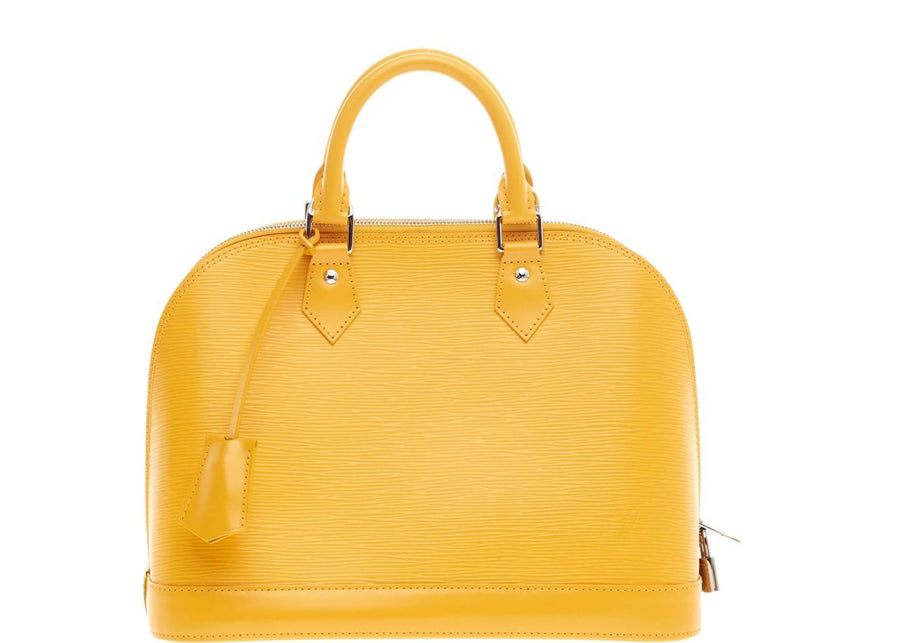 Louis Vuitton Handbag Alma Epi PM Citron Yellow