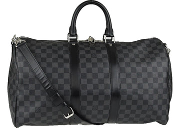 Louis Vuitton Keepall Bandouliere Damier Graphite 45 Black