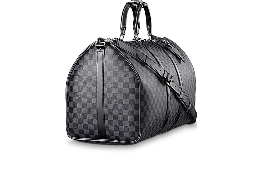 Louis Vuitton Keepall Bandouliere Damier Graphite (With Accessories) 55 Black/Gray