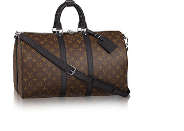 Louis Vuitton Keepall Bandouliere Monogram Macassar 45 Brown/Black