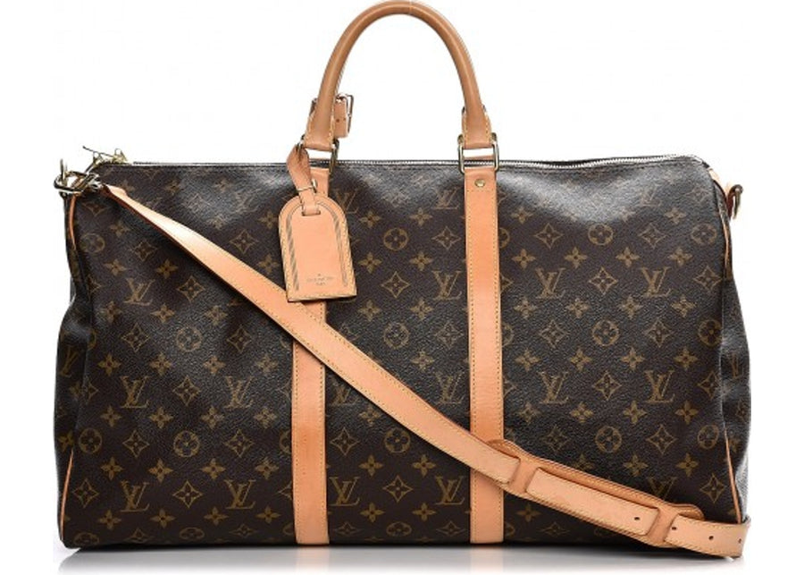 Louis Vuitton Keepall Bandouliere Monogram 50 Brown