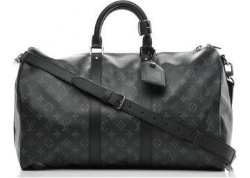 Louis Vuitton Keepall Bandouliere (With Accessories) Monogram Eclipse 45 Grey Black