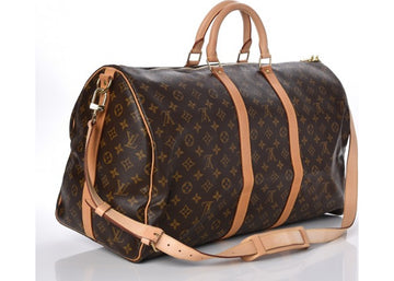 Louis Vuitton Keepall Bandouliere Monogram With Strap 55 (Without Accessories) Brown