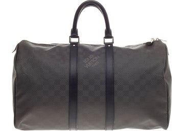 Louis Vuitton Keepall Damier Carbone 45 Black