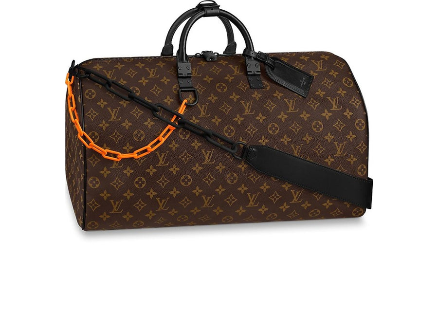 Louis Vuitton Keepall Bandouliere 50 Canvas Brown